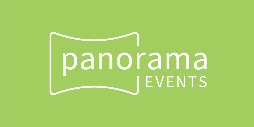 company name logo design Panorama Events by Kettle Fire Creative branding Kettle Fire Creative – Branding Colorado Springs panorama events green fi