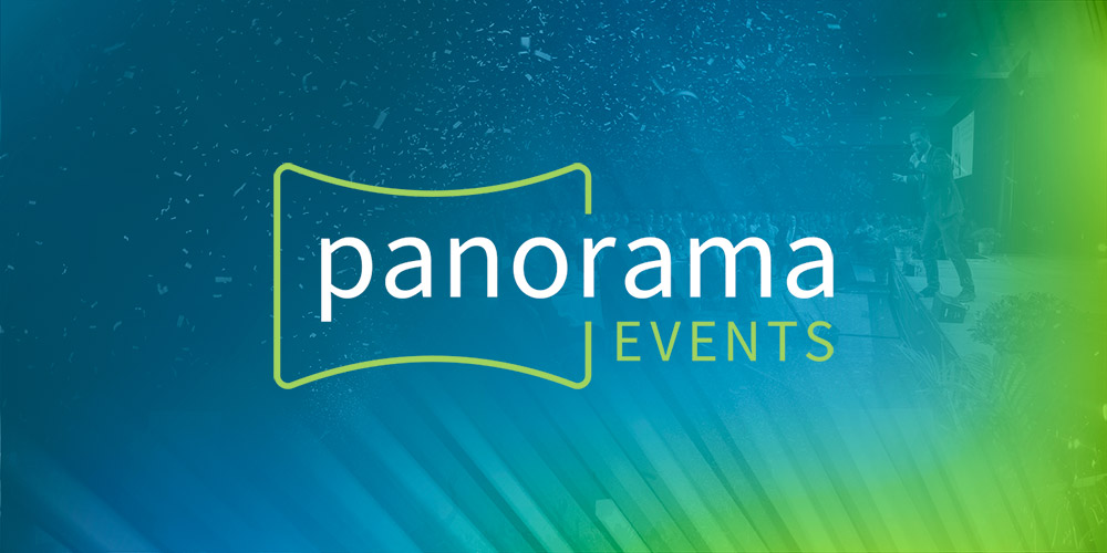 Panorama Events logo designed by Kettle Fire Creative branding Work pe fi