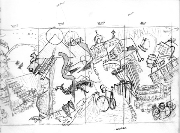 "colorado springs Colorado Springs Public Art: Looking Back at ""Intersection"" first sketch"