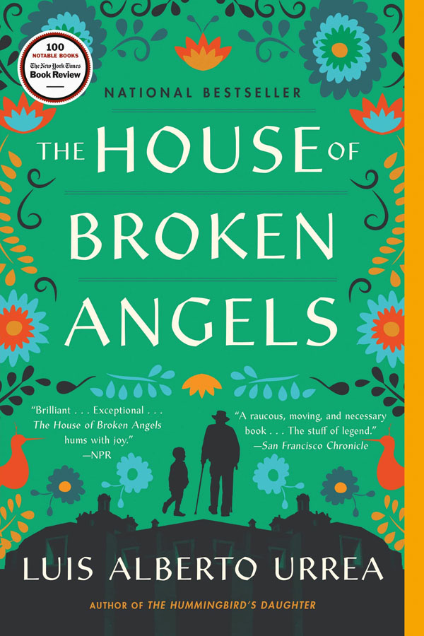 Book cover designs: Best Fiction Cover Art of 2019 by Kettle Fire Creative blog. The House of Broken Angels by Luis Alberto Urrea--best overall composition book cover design Book Cover Designs: Best Fiction Cover Art of 2019 House of Broken Angels