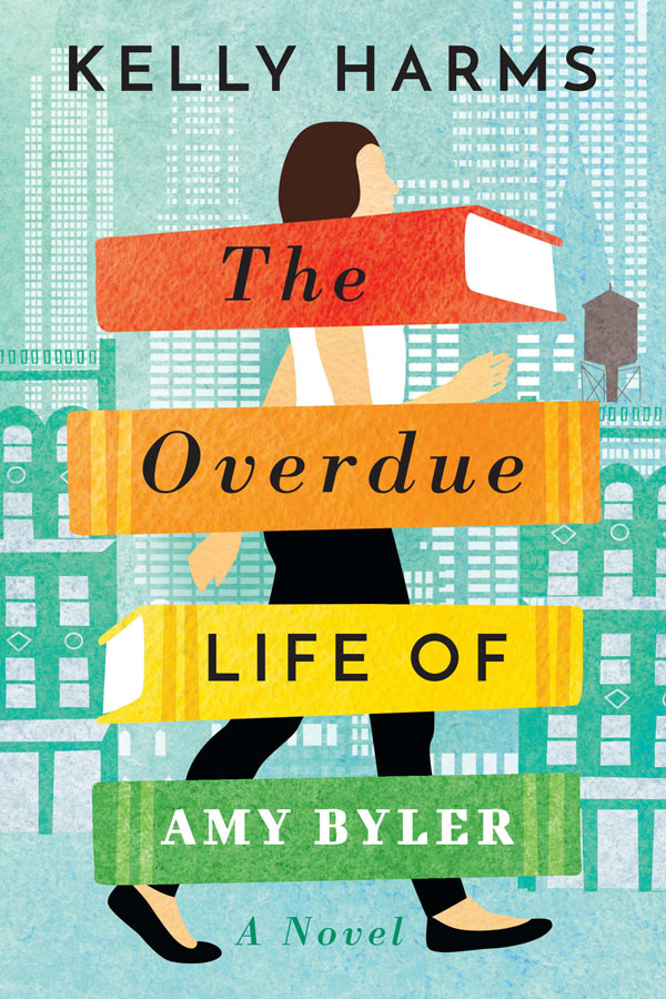 Book cover designs: Best Fiction Cover Art of 2019 by Kettle Fire Creative blog. The Overdue Life of Amy Byler by Kelly Harms--most eye catching book cover design Book Cover Designs: Best Fiction Cover Art of 2019 Overdue Life of Amy Byler