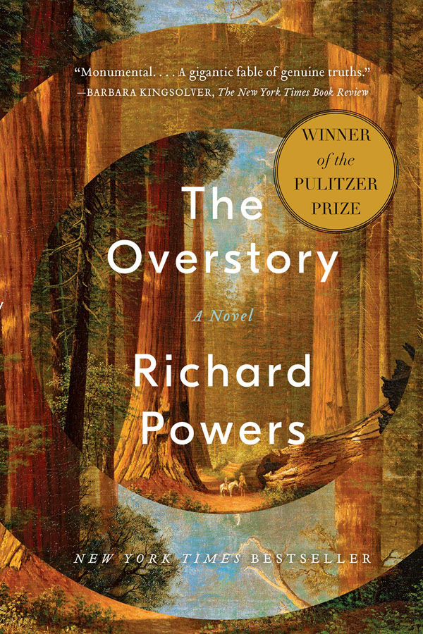 Book cover designs: Best Fiction Cover Art of 2019 by Kettle Fire Creative blog. The Overstory by Richard Powers--best sense of dimension book cover design Book Cover Designs: Best Fiction Cover Art of 2019 Overstory