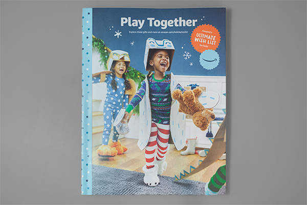 Printed Perfection: Amazon's Toy Catalog Design Makes Us Smile by Kettle Fire Creative. 2019 Play Together catalog cover.