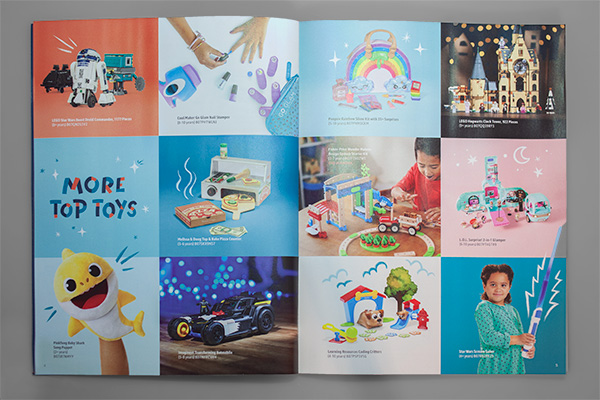 Printed Perfection: Amazon's Toy Catalog Design Makes Us Smile by Kettle Fire Creative. Amazon 2019 Play Together catalog spread. catalog design Printed Perfection: Amazon's Toy Catalog Design Makes Us Smile MG 9617