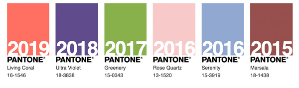 Pantone Color of the Year 2015 2016 2017 2018 2019 pantone Pantone Color of the Year & What It Means for Marketing Past colors