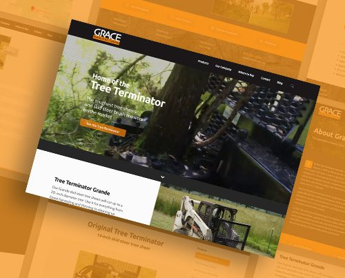 Grace Manufacturing website design by Kettle Fire Creative branding Kettle Fire Creative – Branding + Web Design Colorado Springs gm fi 500x403