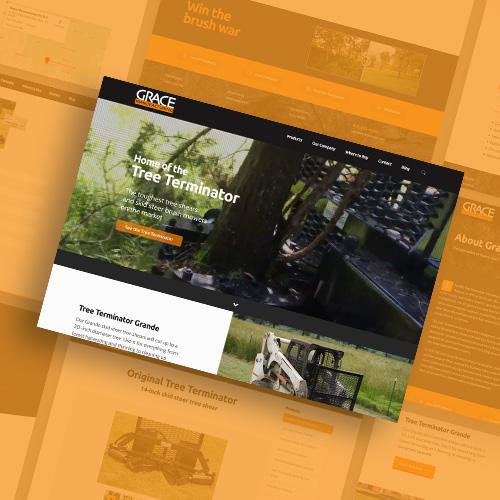 Grace Manufacturing website design by Kettle Fire Creative branding Work gm fi
