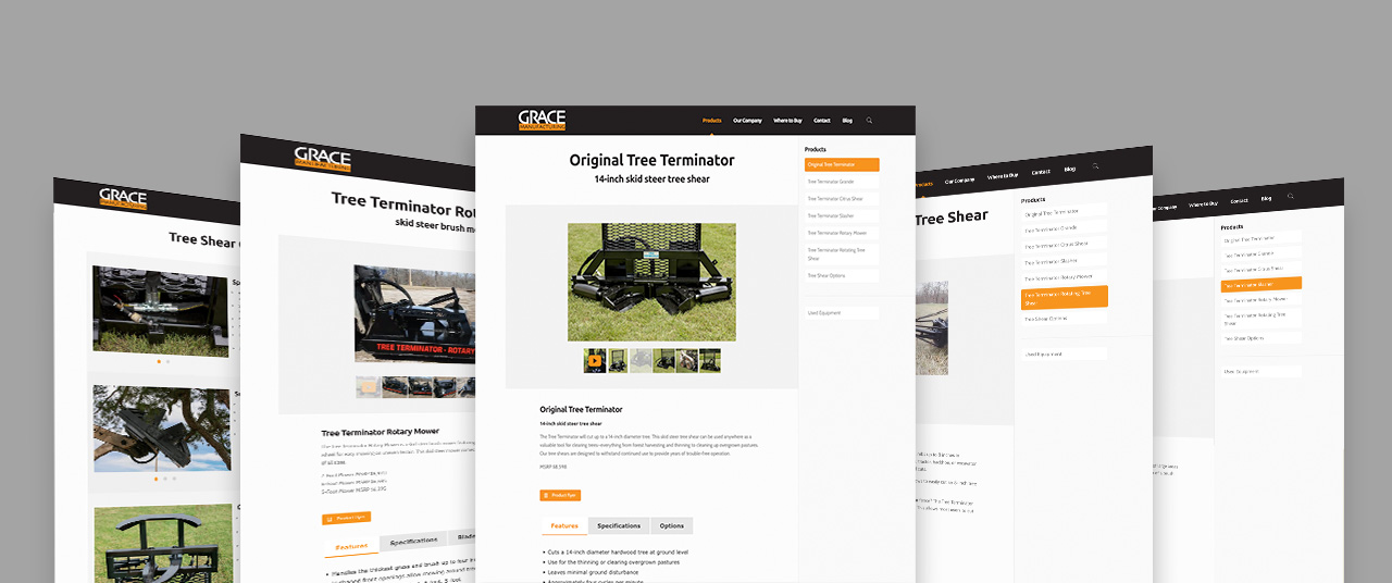 Grace manufacturing website design by Kettle Fire Creative website design Website DesignManufacturer gm products