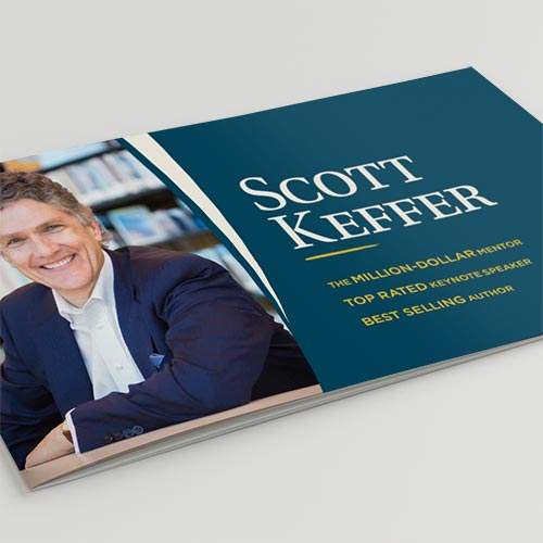 Scott Keffer event collateral speaking brochure by Kettle Fire Creative