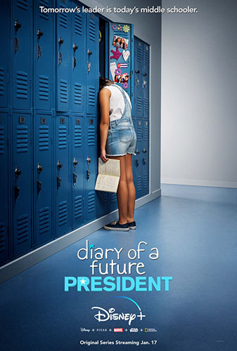 20 best tv show poster designs of 2020, Kettle Fire Creative blog, diary of a future president, best focal point poster design 20 Best TV Show Poster Designs of 2020 diary of a future president