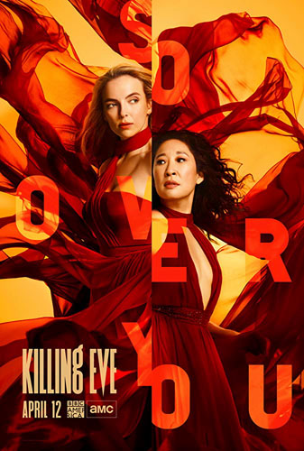 20 best tv show poster designs of 2020, Kettle Fire Creative blog, Killing Eve, best movement poster design 20 Best TV Show Poster Designs of 2020 killing eve
