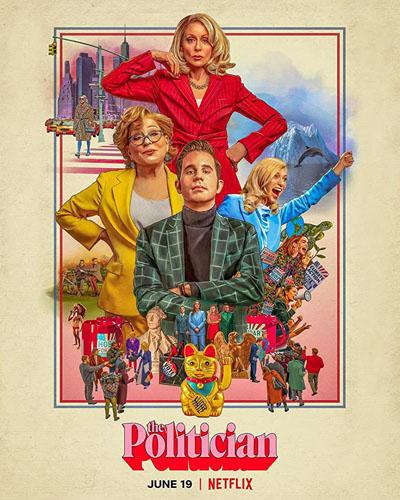 20 best tv show poster designs of 2020, Kettle Fire Creative blog, The Politician, best retro design