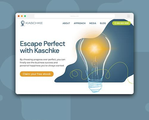 Web design and development for Marc Kaschke by Kettle Fire Creative